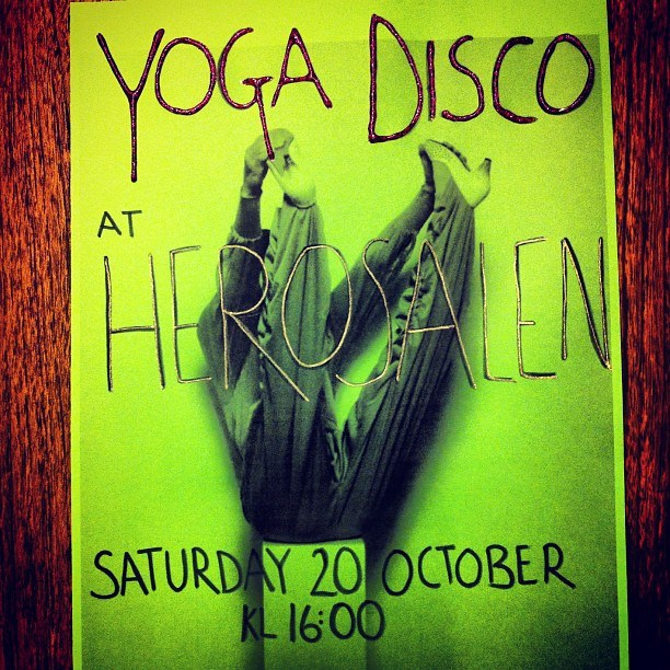 Yoga Disco flyer
