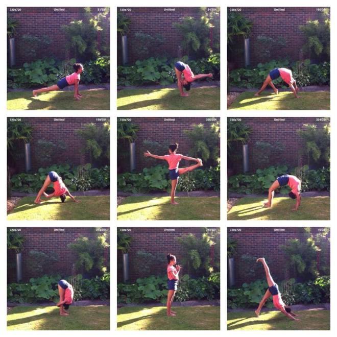 yoga practice garden