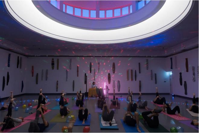 kulturnatt kode yoga disco lysverket
