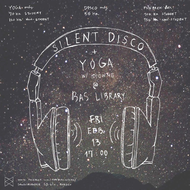 Library yoga silent disco bergen