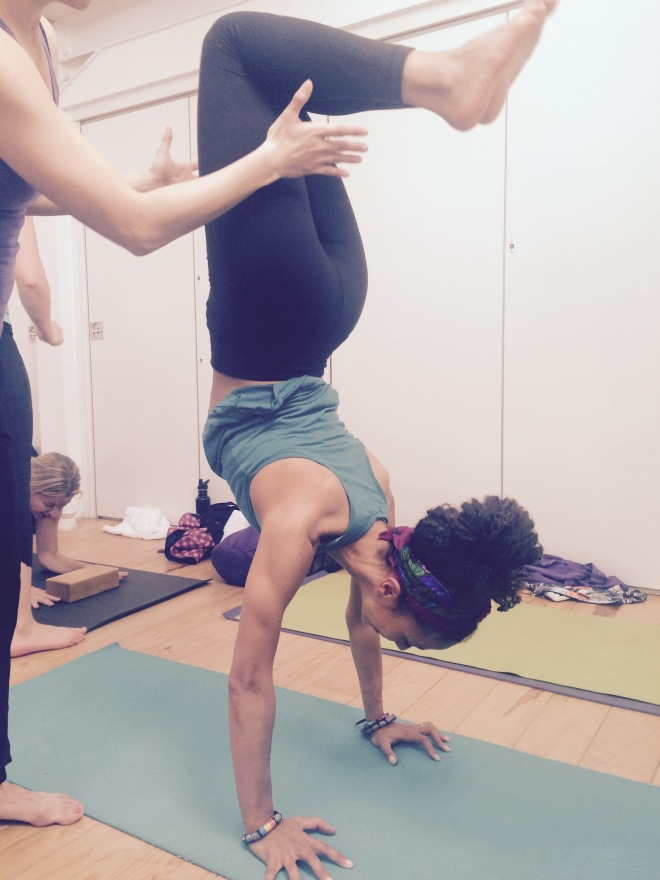 scorpion handstand prep
